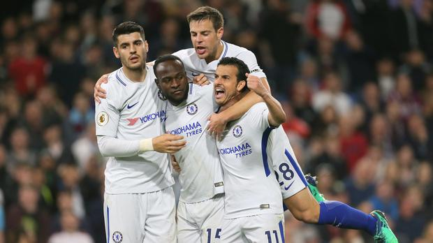 Victor Moses, centre, was Chelsea's match-winner