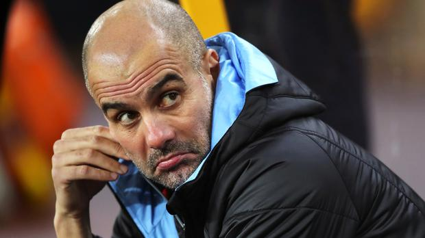 Manchester City manager Pep Guardiola watched his side lose at Wolves on Friday (Nick Potts/PA)