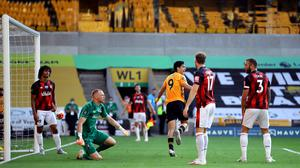 Raul Jimenez scored the winner for Wolves against Bournemouth (Richard Heathcote/NMC Pool/PA)