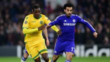 Chelsea winger Mohamed Salah, right, has not started a Premier League game this season