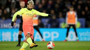 Manchester City's Sergio Aguero failed from the spot at Leicester (Nick Potts/PA)