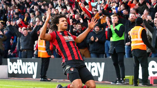 Nathan Ake scored Bournemouth's second goal in the win over Aston Villa (Mark Kerton/PA)