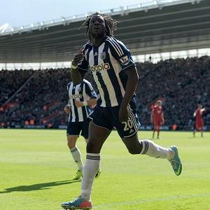 Marc Antoine-Fortune, Romelu Lukaku, pictured, and Shane Long were on target at Southampton