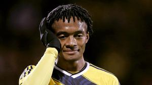 Colombia's Juan Cuadrado, pictured, is on his way to Chelsea, according to Fiorentina boss Vincenzo Montella