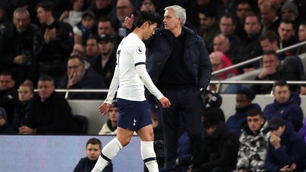 Mourinho has confirmed Tottenham are appealing Son's red card (Nick Potts/PA)