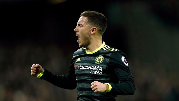 Eden Hazard was almost confronted by a rival fan after putting Chelsea ahead at West Ham
