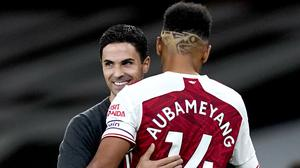 Arsenal manager Mikel Arteta has offered his full support to absent captain Pierre-Emerick Aubameyang. (Will Oliver/PA)