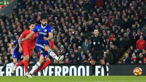 Diego Costa saw his penalty saved by Simon Mignolet