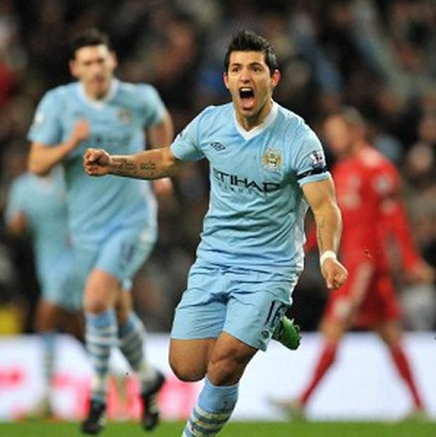 Sergio Aguero salvaged a point for City