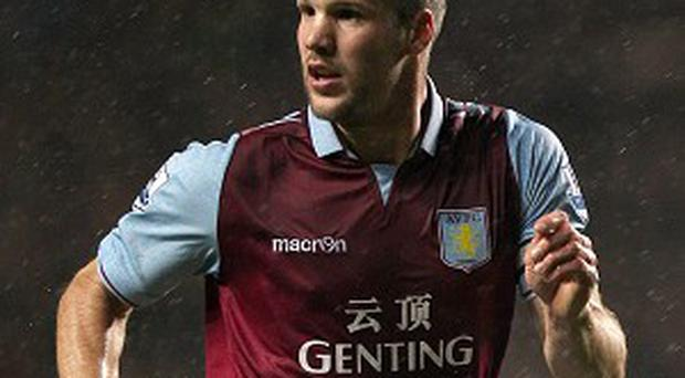 Ron Vlaar is ready for an aerial bombardment from West Ham