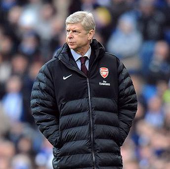 Arsene Wenger's Arsenal currently sit four points behind fourth-placed Tottenham