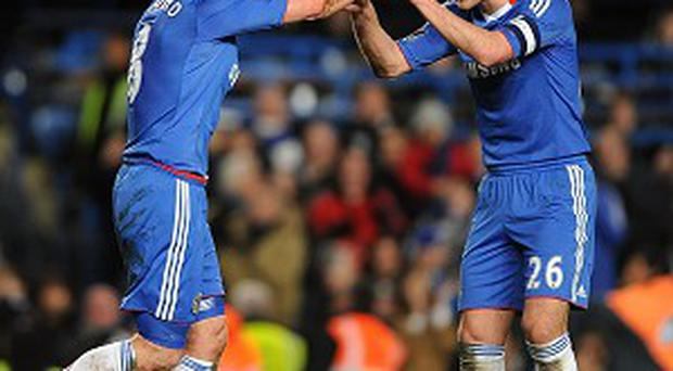 Frank Lampard, left, has more to give at Chelsea according to John Terry, right