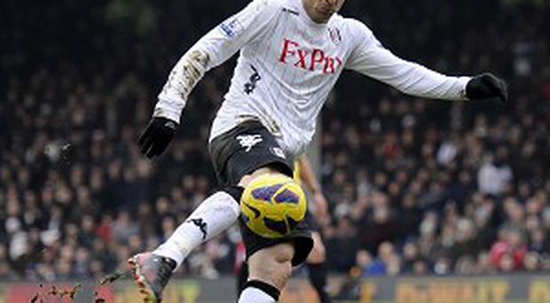 Dimitar Berbatov scored a wonderful volley as Fulham beat Stoke