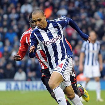 Peter Odemwingie received a mixed reception when he returned as substitute for West Brom