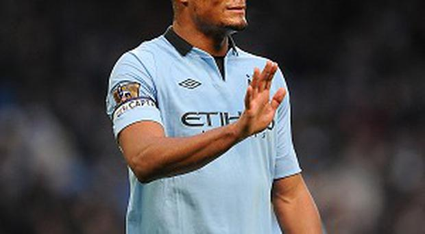 Vincent Kompany is struggling with a calf problem