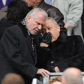 David Sullivan, right, and David Gold have invested heavily in West Ham
