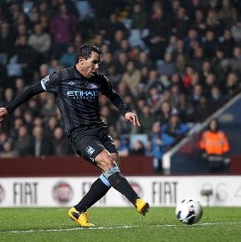Carlos Tevez scored the only goal as City beat Villa