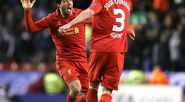 Luis Suarez, left, has been hailed by Jose Enrique