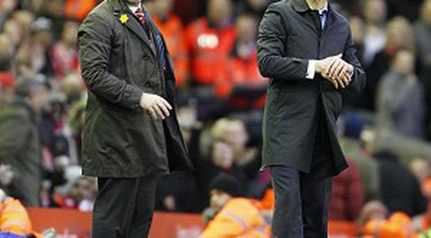 Brendan Rodgers, left, thought Liverpool were good value for their victory