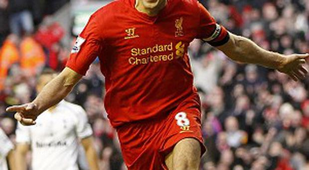 Steven Gerrard, pictured, has been impressed by Coutinho's start to his Liverpool career