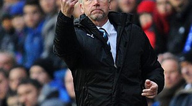 Alan Pardew, pictured, was not impressed by referee Mark Halsey's performance