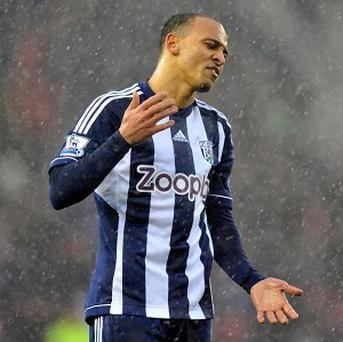 Peter Odemwingie is not happy about having a bit-part role at West Brom