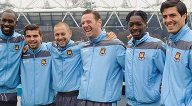 Kevin Nolan, third right, is delighted West Ham are moving to the Olympic Stadium