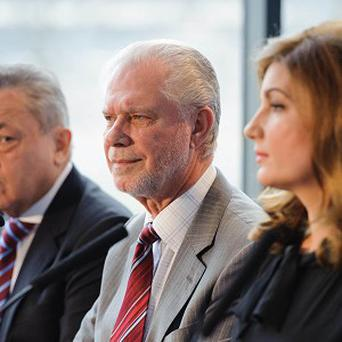 David Gold, centre, has slammed the Olympics organisers