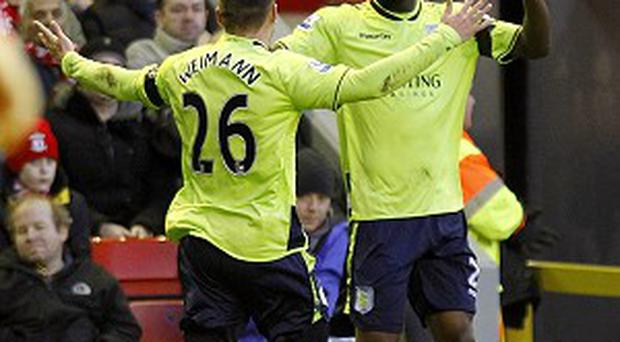 Andreas Weimann, left, and Christian Benteke have both been linked with moves away from Villa