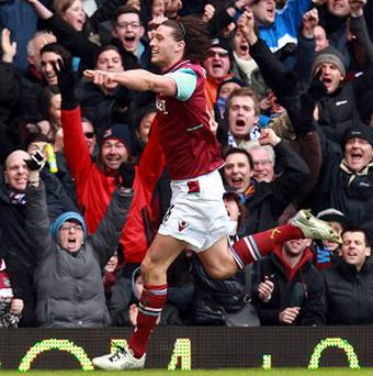 Andy Carroll was back amongst the goals for West Ham