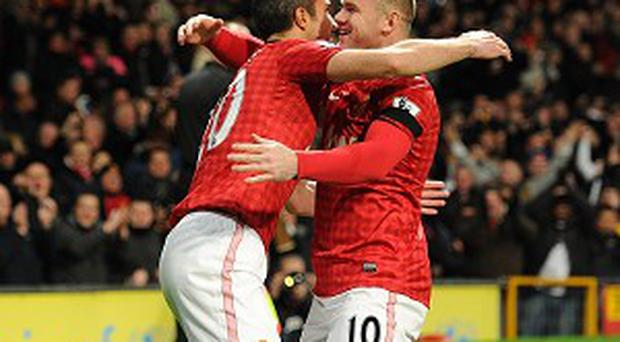Robin van Persie, left, and Wayne Rooney, right, are just two of United's attacking threeats