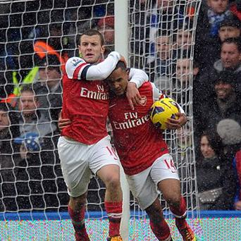 Jack Wilshere, left, and Theo Walcott are nearing returns for Arsenal