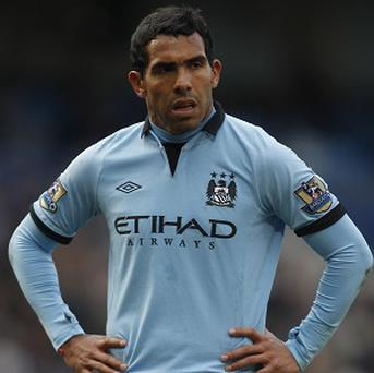 Carlos Tevez has scored six goals in his last seven games for Manchester City
