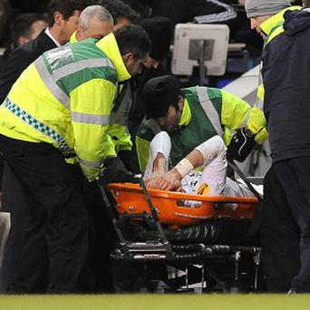 Gareth Bale was carried off on a stretcher against Basle