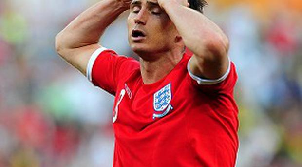 Frank Lampard reacts after his goal in the 2010 World Cup is wrongly ruled out