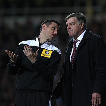 Sam Allardyce, right, felt that West Ham were hard done by against Manchester United on Wednesday