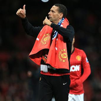 Rio Ferdinand was an unused substitute as Manchester United won the title