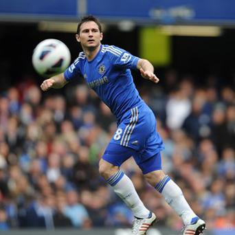 Frank Lampard converted a 45th-minute penalty to move within one of the club record