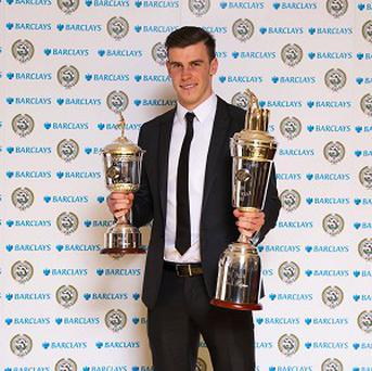 Gareth Bale won the Player of the Year and the Young Player of the Year awards on Sunday