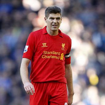 Steven Gerrard, pictured, wants to see Jamie Carragher go out on a high in his final derby clash