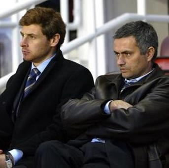 Andre Villas-Boas, left, previously worked with Jose Mourinho, right, at Chelsea