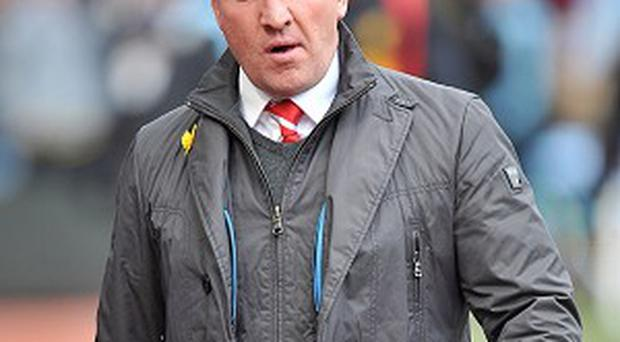 Brendan Rodgers will take charge in his second Merseyside derby on Sunday