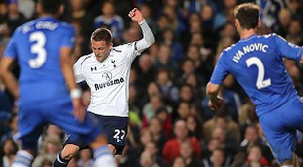 Gylfi Sigurdsson, centre, scored Tottenham's second equaliser