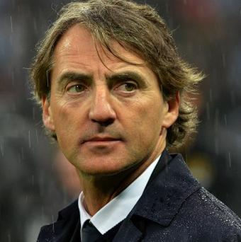 Roberto Mancini is under pressure at Manchester City