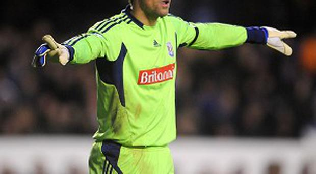 Thomas Sorensen could slip further down the pecking order at Stoke