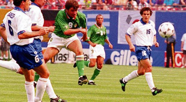 Ray Houghton shone brightest in New York with his match-winner against Italy in 1994