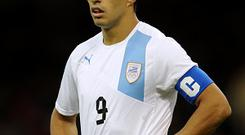 Luis Suarez in action for Uruguay