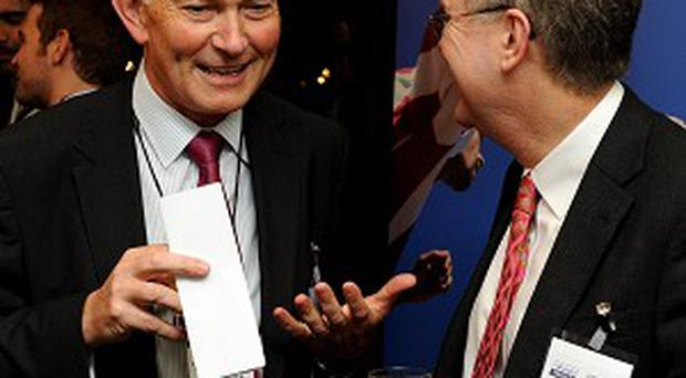 A delegation met with Richard Scudamore, left, to discuss Premier League ticket prices