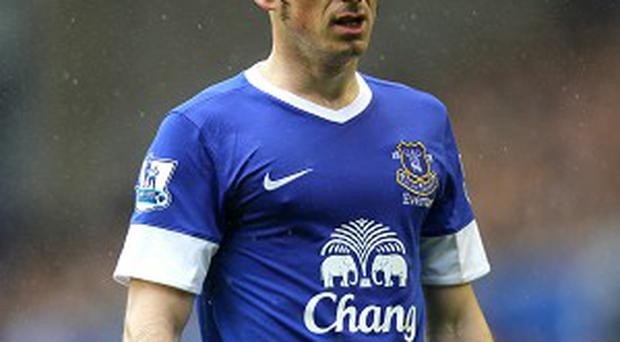 Leighton Baines was linked with a move to Manchester United earlier this summer