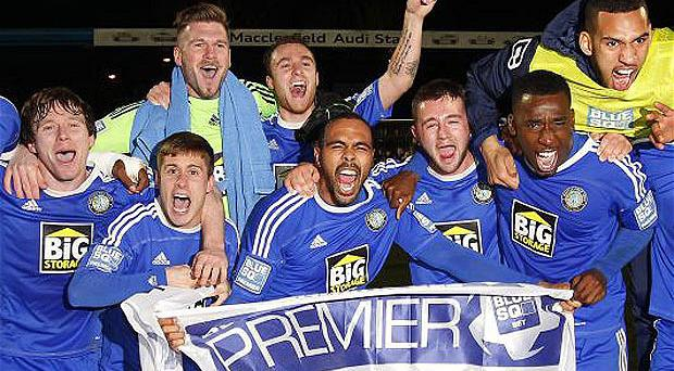 Blue pride: Macclesfield Town made it through to the fourth round of the FA Cup last season